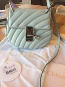 Nwt Drew Bijou Quilted Leather Bag Rare Airy Grey Chc18us107a0801n 1950