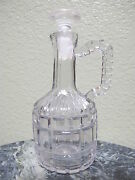 Vintage Eapg Hand Blown Glass Crystal Cruet With Matching Stopper