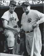 Ted Williams And Babe Ruth - 11 X 14 Photo - 1943 - Fenway Park