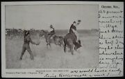 Frontier Days The First Jump Rodeo Cowboy Bronco Cheyenne Wy Postcard-stimson's