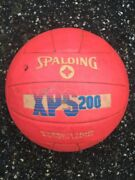 Vintage 1980s Spalding Xps 200 Volleyball Neon Fluorescent Pink Leather