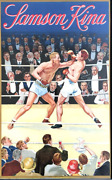 Antique Poster Alcohol Boxing Subject