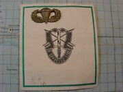 Original Vietnam Vintage 11th Special Forces Co.b Xmas Card With Jump Wings