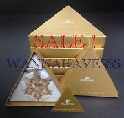 Sale Set 5x 2010 Large Scs Golden Shadow Annual Snowflake Ornament New