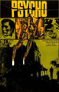Psycho Amazing Rare 22x32 Original Czech Poster Alfred Hitchcock Anthony Perkins