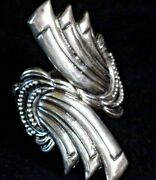 Authentic Taxco Sterling Silver Clamper Bracelet - Signed By Stealino