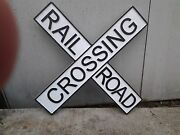 24 Rr Crossing Sign Painted