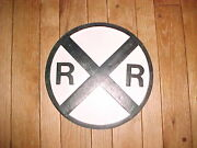 1painted 24 Dia. Replica Of Vintage Antique 24 Old Railroad Crossing Sign