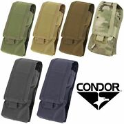 Condor Ma9 Tactical Molle L/r Antenna Radio Walkie Talkie Modular Holster Pouch