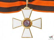 Officers Cross Of Order Of St.george 3d Class On Neck Enamel Gold Plated Russia