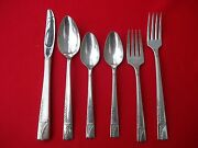 1937 Caprice Pattern Multi Place And Serving Sets By Oneida Nobility Silverplate