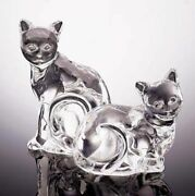 Crystal Cat Salt And Pepper Shakers - Lenox Cats - 55 Value- Gift For Cat Lovers