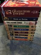 Lot Of 11 Christian Childrens Vhs 6 The Animated Stories From The Bible Etc.