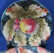 Pair Of Vintage Italian Hand Painted Pottery Bowls 20th Century Excellent