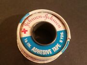 Vintage Johnson And Johnson 1/2 X 5 Yd Red Cross First Aid Tape Metal Tin