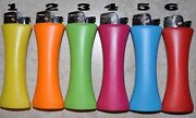6 X Plain Giant Jumbo Size Curve Lighter With Bottle Opener No Gas