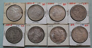 8 Morgan Silver Dollars 1879-o 1880-s 1896 1883-s 1884-s 1886 1889 1891 Feathers