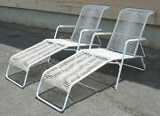 Vintage Mid Century Patio Ames Aire Folding Chaise Lounge Eames Era - Refinished