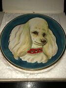 Veneto Flair By Tiziano The Poodle Hand Etched/painted And Numbered 1973 Plate