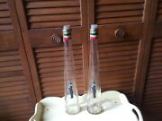 """2 Vintage Italian Wine Riunite 15"""" Tall Bottles Soldier Decal On Front Diy Lamps"""