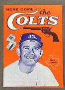 1962 Here Come The Colts Norm Larker Baseball Booklet Higher Grade Tobacco