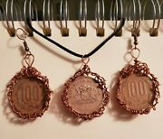 Handmade Foreign Coin Jewelry Set Pendant And Earrings Chile Chilean Coins