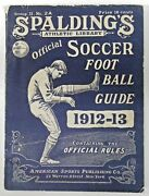 Spalding Official 1912-1913 Soccer Foot Ball Guide Book With Rules