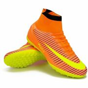 Kids Cleat Shoe Turf Sole Indoor Soccer High Ankle Football Boot Eur Size 31-40