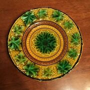 1840-45 Majolica Plate Attributed To Isidor Faist Factory In Schramberg Germany