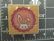 Stamp Wood Rubber Easter Bunny Envelope Seal Ears Jewelry Pendant Basket Card