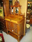 Sale19th Century Continental French Renaissance Walnut Etagere Cabinet Mirrors