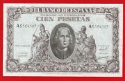 Xf 100 Pesetas 1940 And039and039 Colon And039and039 Serial A Spain