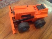 Toy Tractor Vintage Bulldozer Orange 1970and039s Dynamo Ideal Mighty Mo