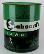 Vintage 1953 Seaboardand039s Grass Seed Advertising Barrel