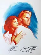 Alex Ross Rare Flash Gordon And Dale Paper Giclee Signed 2x Exclusive Last One