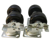 4plnset 4 Caster Set With Braked For Lincoln Impinger Ovens, 3200 Lbs Capacity