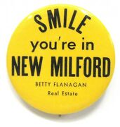 Smile Youand039re In New Milford Flanagan Real Estate Connecticut 2 Pinback Button