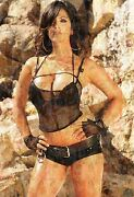 Denise Milani Photo Mosaic Cm. 30x41 Poster With A Lot Of Sexy Pics