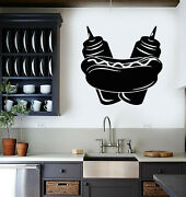 Vinyl Wall Decal Hot Dog Cooking Fast Food Truck Cafe Decor Stickers G268