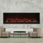 Amantii Bi-60-deep-xt Andndash 60andprime Wide And 18 Tall Electric Fireplace