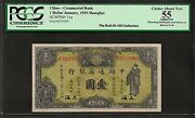 1929 Shanghai P11a 1 Dollar ❀❀ China-commercial Bank ❀❀ Pcgs Ch About New 55