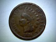 1874 United States Indian Head Cent, Indian Head Small Cent Coin,