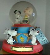 Peanuts Snoopy Westland 50th Anniversary Muiscal Globe Hard To Find Le