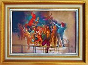Beautiful And Famous Oil Painting Zoltan Herpai 1980and039s From Hungary
