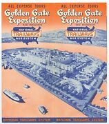 1939 National Trailways Bus Brochure Sf Golden Gate Inter Expo Ggie 16x18