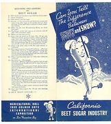 1939 California Beet Sugar Industry Brochure From Sf Golden Gate Inter Expo Ggie