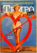 Tempo And Quick Feb 14 1955 Marilyn Monroe Cover Mini Weekly Magazine News Gossip