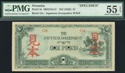 1942 Oceania Japanese Wwii Invasion Money 1 Pound Specimen P-4s Pmg 55 Epq