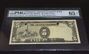 1943ndphilippines/japanese Occupation Wwii Invasion Money 5 Peso P-110a