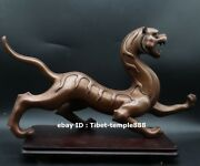 39 Cm Pure Red Copper Bronze China Mythology Fengshui Animal White Tiger Statue